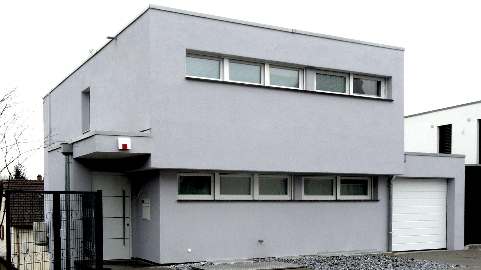 Neubau Einfamilienhaus am Steilhang